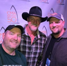 .@BubbaRadio @TraceAdkins & @RadioBigD at #CMAawards50 @CountryMusic