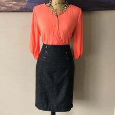 """Pencil Skirt Perfect for business casual wear! Length from waist to bottom: 23"""". Waist is approx: 32"""" Skirts"""