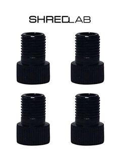 Decorative Bicycle Valve Capss - Set of 4 Black Bicycle Presta Valve Adapters for Road Mountain Track  Fixie Models by Shred Lab *** Details can be found by clicking on the image.