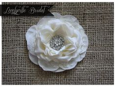 BRIDAL HAIR PIN with Lace /// Ivory - Bridal Fascinator - Bridal Hair Accessory - Bridal Hair Clip - Wedding Hair Accessory. $22.95, via Etsy.