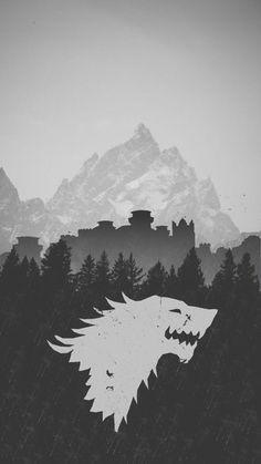 Arte Game Of Thrones, Game Of Thrones Artwork, Game Of Thrones Poster, Game Of Thrones Facts, Game Of Thrones Quotes, Game Of Thrones Funny, House Stark, Casa Stark, Stark Wallpaper