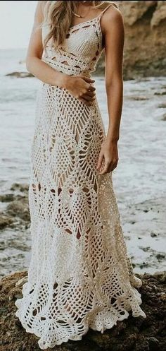 Awesome Free Crochet Summer Dresses Pattern Ideas for This Year - Page 6 of 39 - Daily Crochet! Awesome Free Crochet Summer Dresses Pattern Ideas for This Year - Page 6 of 39 - Daily Crochet! Crochet maxi dress PATTERN: Floor length crochet gown with Crochet Summer Dresses, Summer Dress Patterns, Dress Summer, Skirt Patterns, Crochet Skirts, Crochet Outfits, Shawl Patterns, Dress Beach, Knitting Patterns