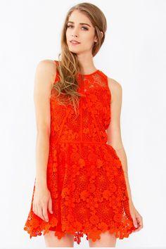 Blossom Orange Dress