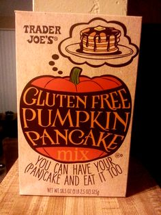Gluten Free pumpkin pancakes from Trader Joe's