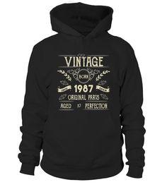 fb233012 Funny Born In 1987 Vintage Novelty T-Shirt For Old Men . Special Offer