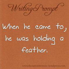The Sarcastic Muse Writing Prompts: Photo. I use the feather motif a lot but this is an interesting idea :)
