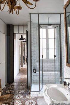 shower cubicle and floor