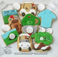 Golf Cookies | Cake Connoisseur