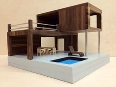 Modern Dollhouse. via Etsy.