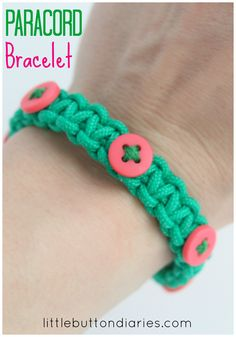 PARACORD bracelet tutorial #kids #craft #jewellery