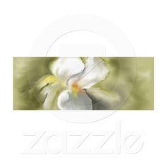 White Iris Stretched Canvas Print
