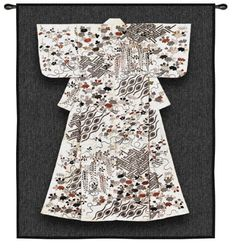 Tapestry handwoven White Katabria Kimono 63x52 cotton boucle gray Asian -- You can find more details by visiting the image link.
