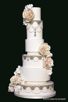 Striking Wedding Cake Designs from Cakes by Konstadin - MODwedding