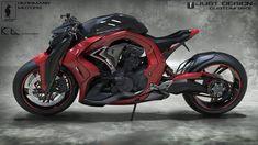 PANDINUS is a concept motorcycle designed by Konstantin Laskov for his client Robert Herrmann. Concept Motorcycles, Cool Motorcycles, Triumph Motorcycles, Futuristic Motorcycle, Futuristic Cars, Custom Street Bikes, Custom Bikes, Moto Bike, Motorcycle Bike