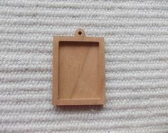 1pc unfinished rectangle shaped pendant or brooch base