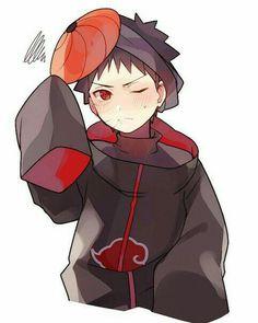 Uchiha Obito, cute, young, childhood, blushing, Sharingan, Akatsuki, mask, Tobi; Naruto