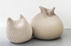 BKLYN contessa : casalis: slumber pouf: woven with south african mohair