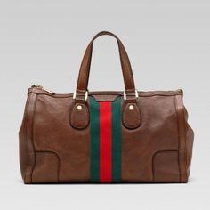 Gucci 271625 Cix1w 8643 Seventies'Medium Tote mit Unterschrift Web Gucci Damen Handtaschen