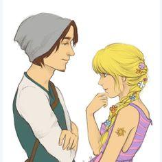 hipster Rapunzel and Flynn - Reminds me of Hanna & Caleb from PLL Hipster Rapunzel, Hipster Disney, Modern Disney, Disney Love, Disney Magic, Disney Art, Disney Stuff, Disney High, Rapunzel Und Eugene