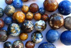 Glass Marbles | German Handmade Non-Glass Marbles - 1850's to Early 1900's