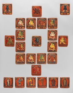 Initiation Card (Tsakalis): Akshobya.Tibet,early 15th century.Initiation cards or tsakali are miniature paintings used in Tibetan Buddhist rituals to consecrate a temple or to give an initiation.