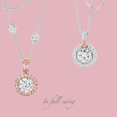 Dance the night away in a Calleija Pink and White Diamond Pendant.