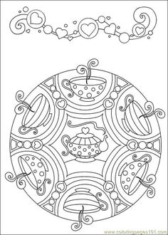 food coloring mandalas | Coloring Pages Mandalas 44 (Cartoons > Mandalas) - free printable ...