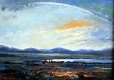 """Karoo Storm Passes""  © Malcolm Dewey #oil #painting #karoo #fineart #travel #visit #memory"