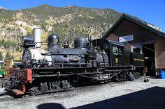 Shay locomotive on the Georgetown loop railroad. Georgetown Loop, Dodge Power Wagon, Train Pictures, Steam Engine, Steam Locomotive, Colorado, Engineering, Photos, Aspen Colorado
