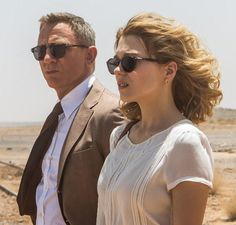 Madeleine Swann (played by Léa Seydoux) wears Persol PO3092SM Suprema 50 Petite Fit sunglasses in a promotional photo for SPECTRE