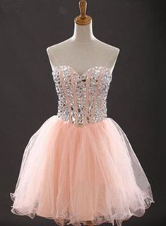 Sweetheart Beading Short Prom Dresses,Cocktail Dress,Charming Homecoming Dresses,Homecoming Dresses  by olesaweddingdresses, $124.28 USD