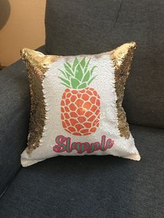 Magic pineapple pillow Mermaid Pillow, Sequin Pillow, Ready To Go, Pineapple, Super Cute, Sequins, Magic, Throw Pillows, Pinecone