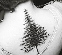 tree tattoo design on back-13