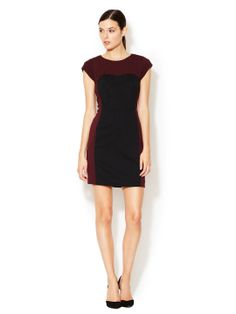 GIRL'S NIGHT OUT - Ponte Colorblocked Sheath Dress (Rebecca Taylor)