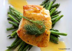 Chilean Sea Bass with Orange Sauce and Citrus Fennel Pollen Sea Salt #hgeats #foodsfromchile