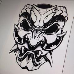 "329 To se mi líbí, 5 komentářů – Jared Mirabile (@sweyda) na Instagramu: ""Thus far. #pencil #illustration #sketch #vector #samurai #mask #sweyda"" S Tattoo, Hand Tattoos, Hannya Mask Tattoo, Pirate Tattoo, Tiki Totem, Japan Illustration, Hand Mask, Asian Tattoos, Japanese Tattoo Designs"