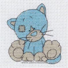 Tatty teddy my blue nose friends cross stitch | Tatty Teddy My Blue Nose Friends Kittywink