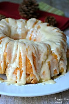 Eggnog Monkey Bread - perfect for Christmas morning!