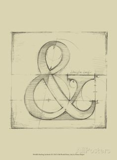 Drafting Symbols II Reproduction d'art