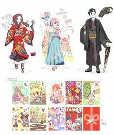 """Namie no Twitter: """"おまけです!概念礼装「いろはにほへと」のかるた札と和服デザインです!+また袴シュを描きました!今日からゲットしてくれると嬉しいです!#FGO… """" ."""