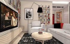 LOFT - Salon - Styl Industrialny - ARCHITETTO