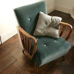 can I reupholster Granddad's rocking chair? this is nice...
