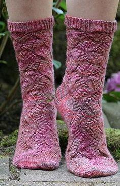 Носки. Узор вязания спицами, схема