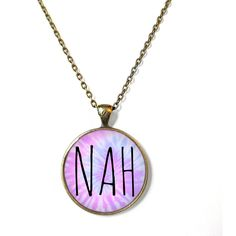 Offensive Pastel Goth Insult Pastel Tie Dye NAH Necklace - Pastel Goth... (20 CAD) ❤ liked on Polyvore featuring jewelry, necklaces, 28. necklaces., gothic jewellery, pendants & necklaces, gothic pendant, grunge jewelry and pendant jewelry