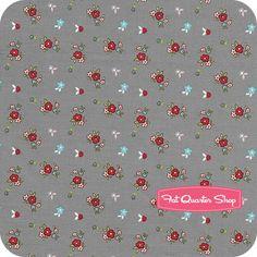 Little Red Riding Hood Gray Floral Yardage SKU# C3275-GRAY - Fat Quarter Shop