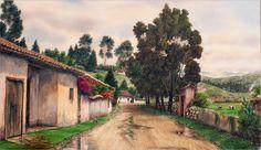 Cuadros Modernos Pinturas y Dibujos : Paisajes Colombianos Pintados al Óleo, José Orlando López Molina