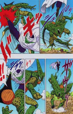 Piccolo VS Cell first formillustrated by Akira ToriyamaPublished by JUMP COMICS…