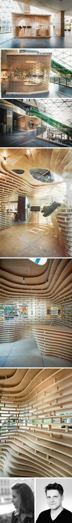 Ecoark a building with walls made of 1 5 mio recycled for Architecture parametrique