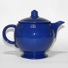 Vintage Fiesta Medium Teapot, Cobalt Blue