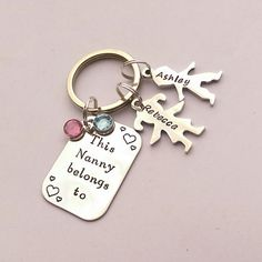 Personalised Nanny present personalized by EmsStampedJewellery